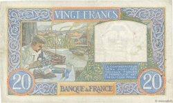 20 Francs SCIENCE ET TRAVAIL FRANCE  1942 F.12.21 TB+