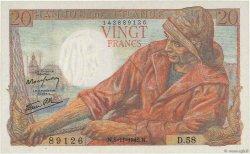 20 Francs PÊCHEUR FRANCE  1942 F.13.04 NEUF