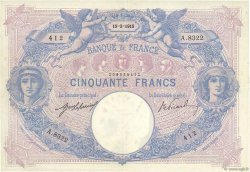 50 Francs BLEU ET ROSE FRANCE  1919 F.14.32 TTB+