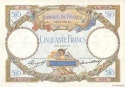 50 Francs LUC OLIVIER MERSON type modifié FRANCE  1934 F.16.05 TTB à SUP