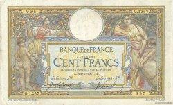 100 Francs LUC OLIVIER MERSON sans LOM FRANCE  1911 F.23.03 TB