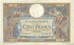100 Francs LUC OLIVIER MERSON sans LOM FRANCE  1919 F.23.11 TTB