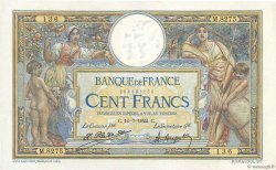 100 Francs LUC OLIVIER MERSON sans LOM FRANCE  1922 F.23.15 SUP à SPL