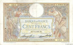 100 Francs LUC OLIVIER MERSON grands cartouches FRANCE  1936 F.24.15 TB