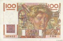 100 Francs JEUNE PAYSAN FRANCE  1947 F.28.15 TTB+