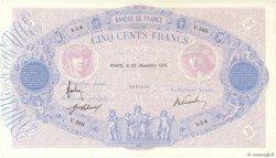 500 Francs BLEU ET ROSE FRANCE  1913 F.30.21 TTB+