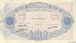 500 Francs BLEU ET ROSE FRANCE  1931 F.30.34 TB