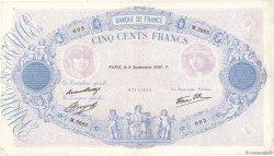 500 Francs BLEU ET ROSE modifié FRANCE  1937 F.31.03 TB+