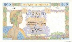 500 Francs LA PAIX FRANCE  1940 F.32.05 NEUF