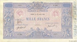 1000 Francs BLEU ET ROSE FRANCE  1912 F.36.26 pr.TTB
