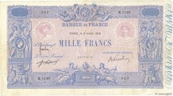 1000 Francs BLEU ET ROSE FRANCE  1918 F.36.32 TTB