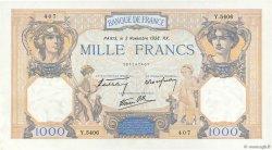 1000 Francs CÉRÈS ET MERCURE type modifié FRANCE  1938 F.38.32 SPL+