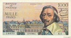 1000 Francs RICHELIEU FRANCE  1953 F.42.01 SUP