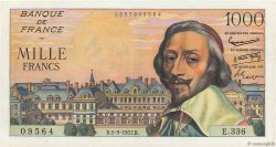 1000 Francs RICHELIEU FRANCE  1957 F.42.26 SPL+