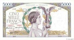 5000 Francs VICTOIRE modifié FRANCE  1938 F.45.01 SPL