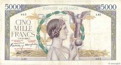 5000 Francs VICTOIRE Impression à plat FRANCE  1938 F.46.01 pr.TTB