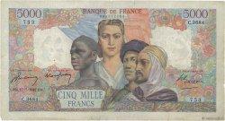 5000 Francs EMPIRE FRANÇAIS FRANCE  1947 F.47.61 TB+