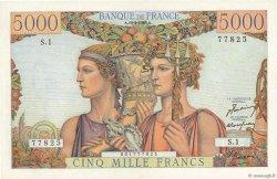 5000 Francs TERRE ET MER FRANCE  1949 F.48.01 pr.SPL