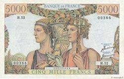 5000 Francs TERRE ET MER FRANCE  1951 F.48.04 SUP à SPL