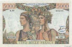 5000 Francs TERRE ET MER FRANCE  1952 F.48.06 pr.SPL