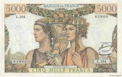 5000 Francs TERRE ET MER FRANCE  1952 F.48.07 SUP
