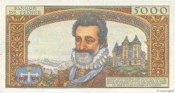 5000 Francs HENRI IV FRANCE  1958 F.49.05 TTB+