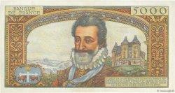 5000 Francs HENRI IV FRANCE  1958 F.49.06 pr.NEUF