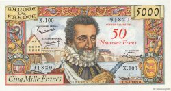 50 NF sur 5000 Francs HENRI IV FRANCE  1959 F.54.02 SUP