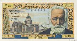 5 Nouveaux Francs VICTOR HUGO FRANCE  1959 F.56.02 SUP+