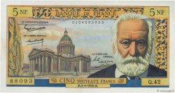 5 Nouveaux Francs VICTOR HUGO FRANCE  1960 F.56.05 pr.NEUF