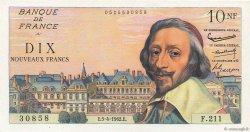 10 Nouveaux Francs RICHELIEU FRANCE  1962 F.57.18 SPL