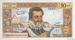 50 Nouveaux Francs HENRI IV FRANCE  1959 F.58.01 TTB+