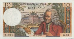10 Francs VOLTAIRE FRANCE  1963 F.62.06 pr.NEUF