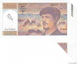 20 Francs DEBUSSY FRANCE  1983 F.66.04 pr.NEUF
