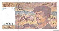 20 Francs DEBUSSY à fil de sécurité FRANCE  1990 F.66bis.01 pr.SUP
