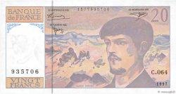 20 Francs DEBUSSY Modifié FRANCE  1997 F.66ter.02a pr.SPL
