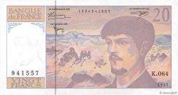 20 Francs DEBUSSY Modifié FRANCE  1997 F.66ter.02b pr.NEUF