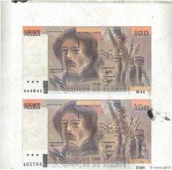 100 Francs DELACROIX modifié FRANCE  1982 F.69.06x TTB+