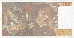 100 Francs DELACROIX imprimé en continu FRANCE  1990 F.69bis.02d TTB