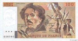 100 Francs DELACROIX imprimé en continu FRANCE  1991 F.69bis.03a4 pr.NEUF