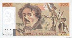 100 Francs DELACROIX imprimé en continu FRANCE  1991 F.69bis.03c1 pr.NEUF