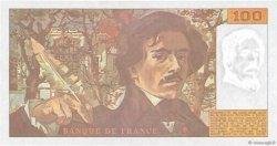 100 Francs DELACROIX imprimé en continu FRANCE  1991 F.69bis.04b pr.NEUF