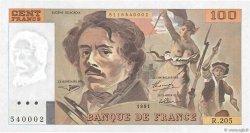 100 Francs DELACROIX imprimé en continu FRANCE  1991 F.69bis.04c SPL+