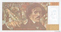 100 Francs DELACROIX imprimé en continu FRANCE  1993 F.69bis.07b SPL