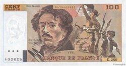 100 Francs DELACROIX 442-1 & 442-2 FRANCE  1994 F.69ter.01a pr.NEUF