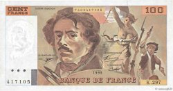 100 Francs DELACROIX 442-1 & 442-2 FRANCE  1995 F.69ter.02c SUP
