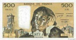 500 Francs PASCAL FRANCE  1973 F.71.09 SUP à SPL