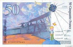 50 Francs SAINT-EXUPÉRY FRANCE  1992 F.72.01aB SUP