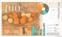 100 Francs CÉZANNE sans STRAP FRANCE  1997 F.74bis.01 SPL