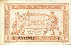 1 Franc TRÉSORERIE AUX ARMÉES FRANCE  1917 VF.03.06 SPL